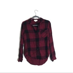 Cloth and Stone Red and Black Flannel